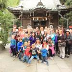 横須賀のアメリカ人の皆さんと鎌倉祇園山ハイキングコースにて。