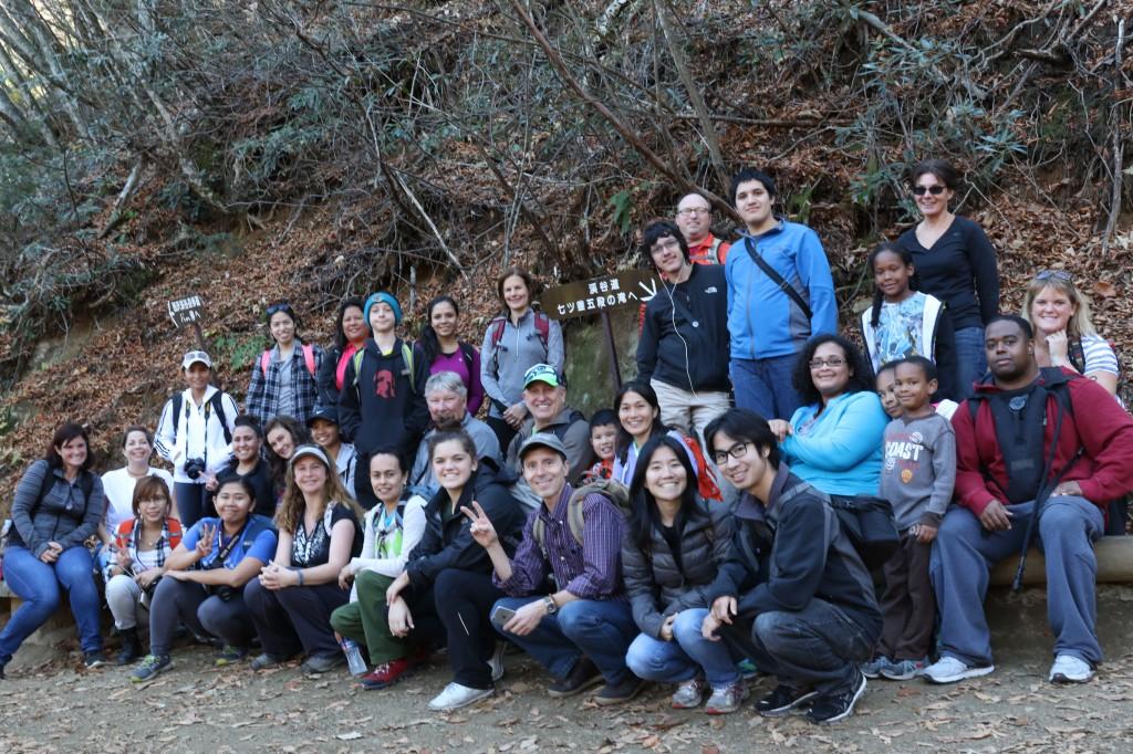 2015年11月 横須賀在住のアメリカ人家族を連れて西沢渓谷にて