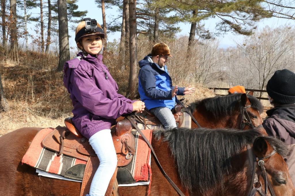 親子で乗馬